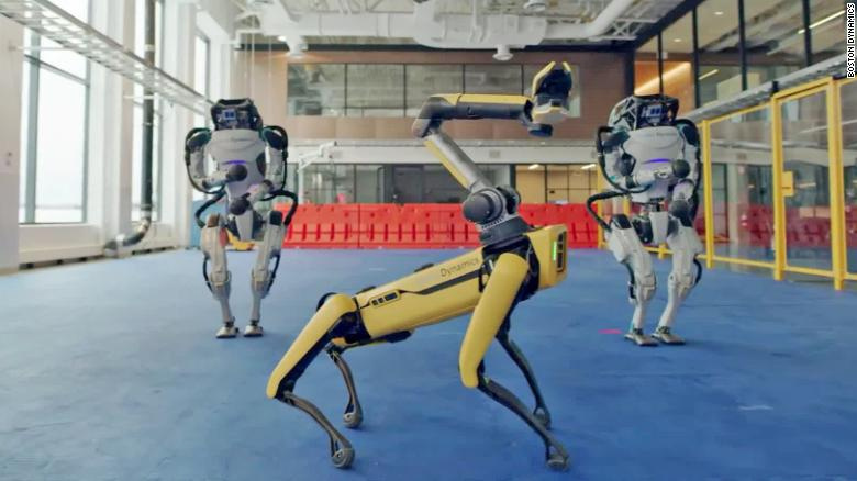 "Roboty z Boston Dynamics tańczą do piosenki ""Do you love me"""